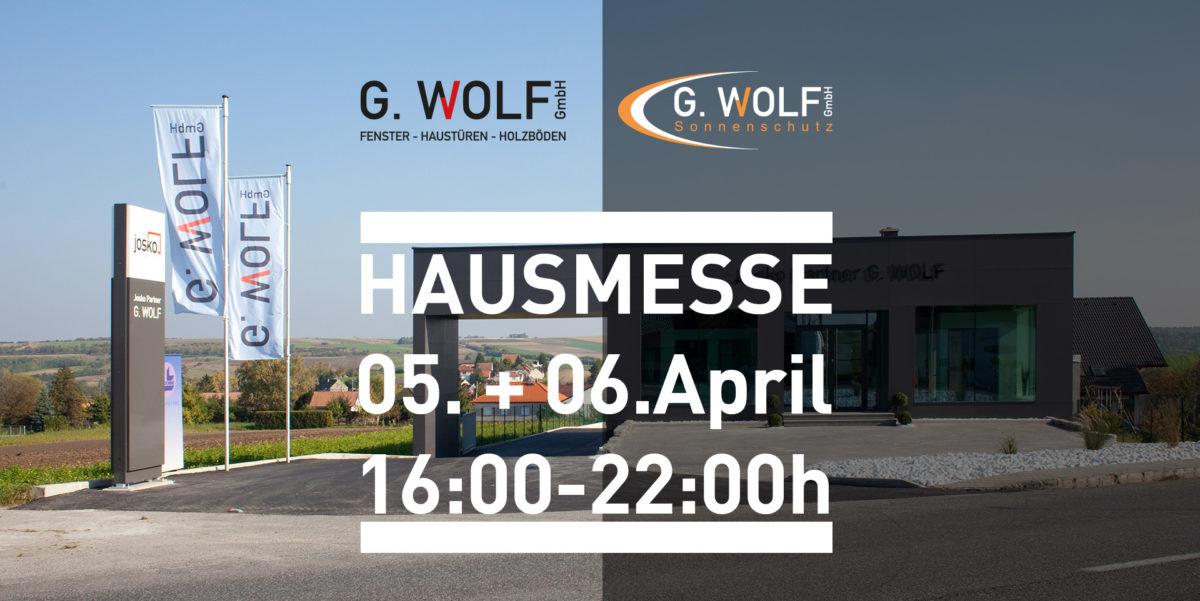 Einladung Hausmesse G.WOLF